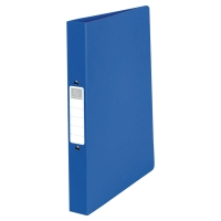 EXACOMPTA PP OPAQUE RING BINDER, 32X26.8CM, 4 O-RINGS, 40MM SPINE - BLUE