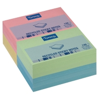 LYRECO NOTE 125 X 75 MM RECYCLED PADS RAINBOW COLOURED - PACK OF 12
