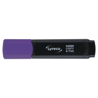 LYRECO HIGHLIGHTER PURPLE - BOX OF 10