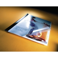 DURABLE CLEAR A4 PRESENTATION FOLDERS 120 MICRON - PACK OF 10