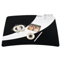 LYRECO DESK MAT 550 X 404MM BLACK