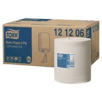 TORK REFLEX WHITE M2 CENTREFEED 2 PLY WIPING PAPER ROLL 160M - PACK OF 6