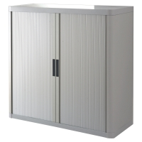 PAPERFLOW EASYOFFICE TAMBOUR CUPBOARD 1M GREY