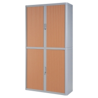PAPERFLOW EASYOFFICE TAMBOUR CUPBOARD 2M GREY / BEECH
