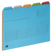 ELBA ULTIMATE ASSORTED COLOUR A4 5 TABBED FOLDERS - PACK OF 25 (5 X 5)
