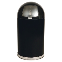 RUBBERMAID METAL WASTE BIN 45 LITRE BLACK