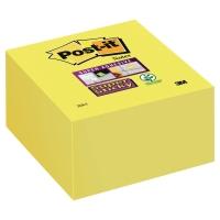 POST-IT SUPER STICKY CUBE 76X76MM ULTRA YELLOW