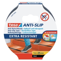 TESA ANTI-SLIP STAIR TAPE 5MX25MM BLACK