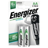 ENERGIZER RECHARGEABLE BATTERIES HR6/AA 2300MAH - PACK OF 2