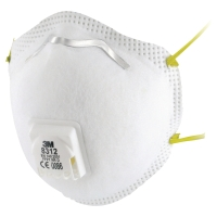 3M 8312 FFP1RESPIRATOR MASKS WITH VALVE  (BOX OF 10)