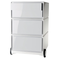 PAPERFLOW WHITE 4 DRAWER MOBILE PEDESTAL H642MM X W390MM X D436MM