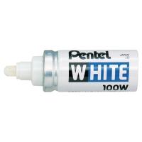PENTEL X100W WHITE MARKER WIDE BULLET POINT