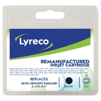 LYRECO INKJET CART HP301XL CH563EE BLACK