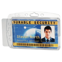DURABLE 8924-19 DUAL PROXIMITY CARD HOLDER TRANSPARENT PACK OP 10
