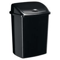 ROSSIGNOL BLACK 50 LITRE BIN WITH BLACK PLASTIC SWING LID