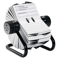 DURABLE VISIFIX BLACK ROTARY TELEPHONE INDEX FILE WITH 500 CARDS