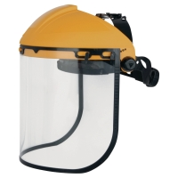 DELTAPLUS FACESHIELD WITH FRONT PROTECTION YELLOW/BLACK