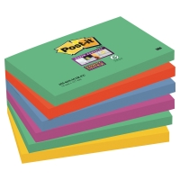 POST-IT SUPER STICKY NOTES 76X127MM MARRAKESH COLOUR PK6