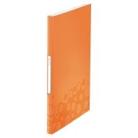 LEITZ WOW DISPLAY BOOK POLYPROPYLENE 40 POCKET A4 ORANGE