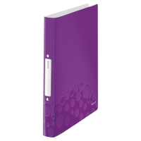LEITZ WOW 2-RING BINDER POLYPROPYLENE A4 PURPLE