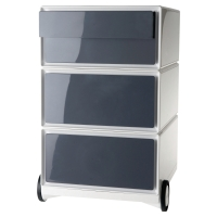PAPERFLOW CHARCOAL/WHITE 4 DRAWER MOBILE PEDESTAL H642MM X W390MM X D436MM