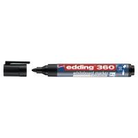 EDDING 360 BULLET TIP BLACK WHITEBOARD MARKERS - BOX OF 10