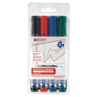 EDDING 360 BULLET TIP ASSORTED COLOUR WHITEBOARD MARKERS - WALLET OF 4