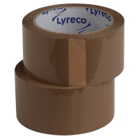 LYRECO POLYPROPYLENE NO NOISE PACK TAPE 75MMX66M BROWN - PACK OF 6