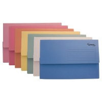 LYRECO ASSORTED FOOLSCAP DOCUMENT WALLETS 290GSM 32MM CAPACITY - BOX OF 50
