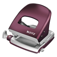 Leitz Style 2 Hole Punch 30 Sheets Garnet Red