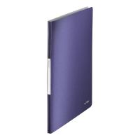 LEITZ STYLE DISPLAY BOOK POLYPROPYLENE A4 20 POCKET BLUE