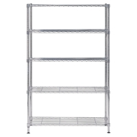 ALBA CHROME STEEL SHELVING 5 SHELVES LARGE