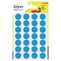 PK168 AVERY PSA15B DOT LABEL DIA15MM BLUE