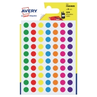 PK420 AVERY PSA08MX DOT LABEL DIA8MM ASSORTED