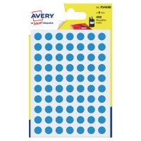 PK490 AVERY PSA08B DOT LABELS DIA8MM BLUE