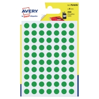PK490 AVERY PSA08V DOT LABELS DIA8MM GREEN