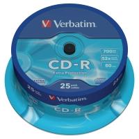 PK25 VERBATIM CD-R 80 MINUTE 700MB SPINDLE