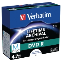 PK5 VERBATIM M-DISC DVD-R 4.7GB JEWEL