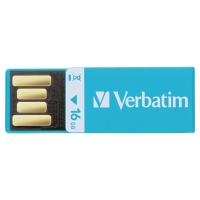 VERBATIM CLIP-IT USB 2.0 16GB BLU