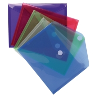 EXACOMPTA DOCUMENT WALLET A5 VELCRO ASSORTED - PACK OF 5