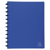 EXACOMPTA DISPLAY BOOK 30 REMOVABLE POCKETS BLUE