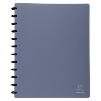 EXACOMPTA DISPLAY BOOK 30 REMOVABLE POCKETS METAL BLUE