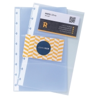 EXACOMPTA BUSINESS CARDS REFILL POCKETS A5 PACK 10