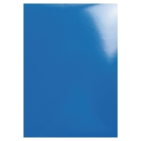 EXACOMPTA GLOSSY BINDING COVER BLUE - BOX OF 100