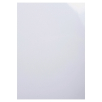 EXACOMPTA GLOSSY BINDING COVER WHITE - BOX OF 100