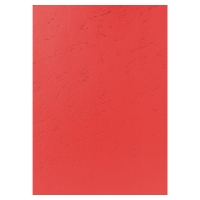 EXACOMPTA LEATHERGRAIN BINDING COVERS RED - BOX OF 100