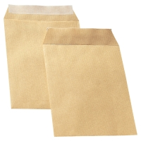 LYRECO MANILLA C5 PEEL AND SEAL PLAIN ENVELOPES 90GSM - BOX OF 500