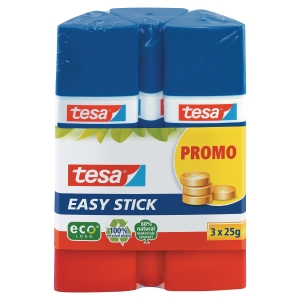TESA EASY GLUE STICKS 25G PACK OF 3