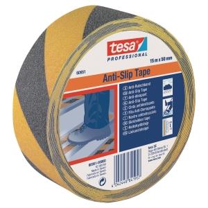 TESA ANTI-SLIP TAPE 50MMX15M BLK/YLLW