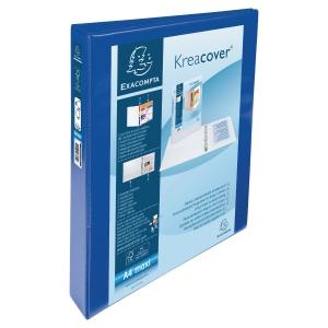 KREACOVER PP RING BINDER, 32X27.5CM, 4 D-RINGS, 47MM SPINE/30MM RING CAP -  BLUE